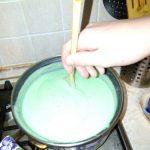 Зеленый заварной крем домашнего приготовления
