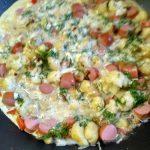 Рагу из цветной капусты в сковороде