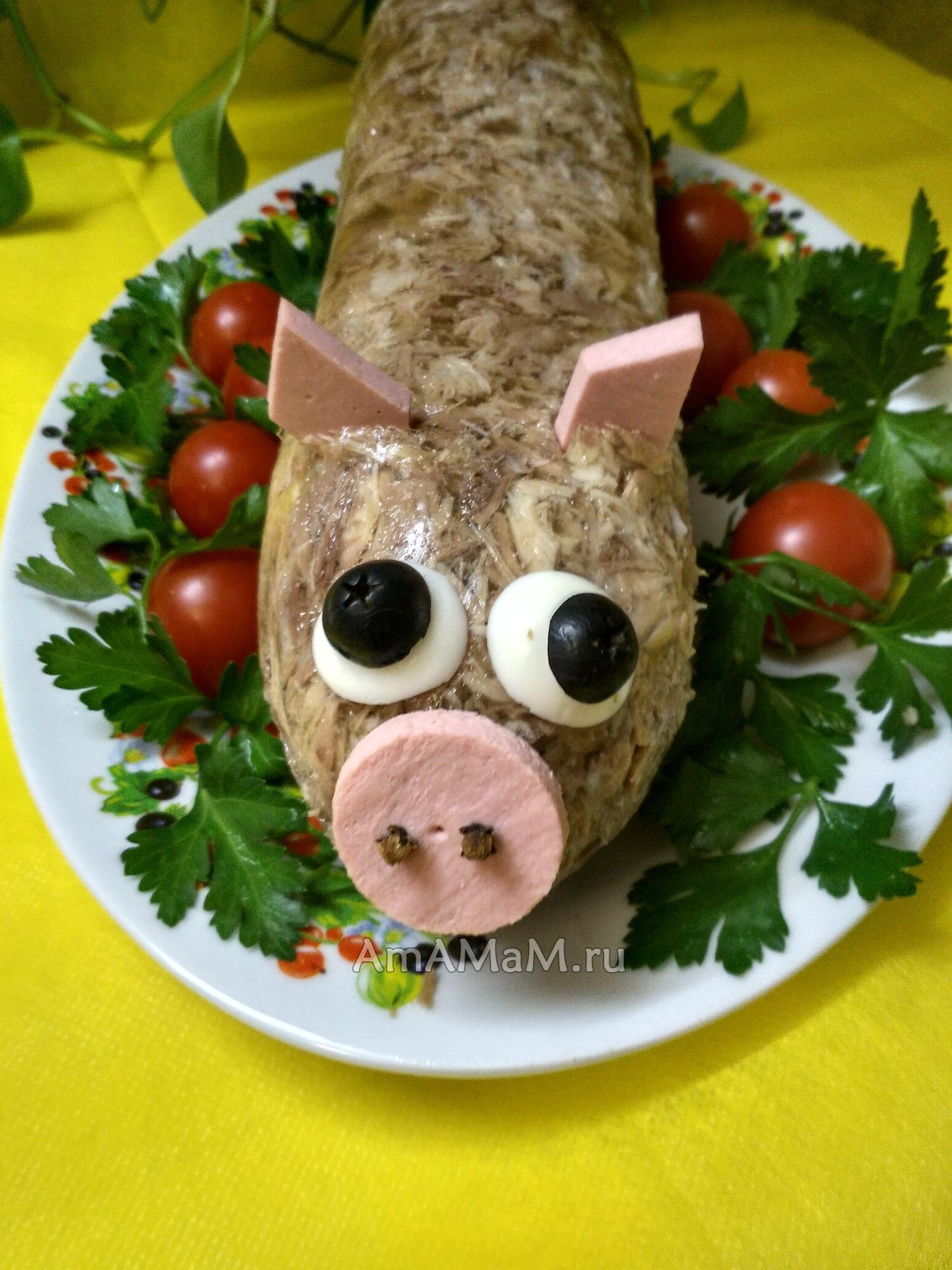 Холодец из головы свиньи рецепт пошагово в