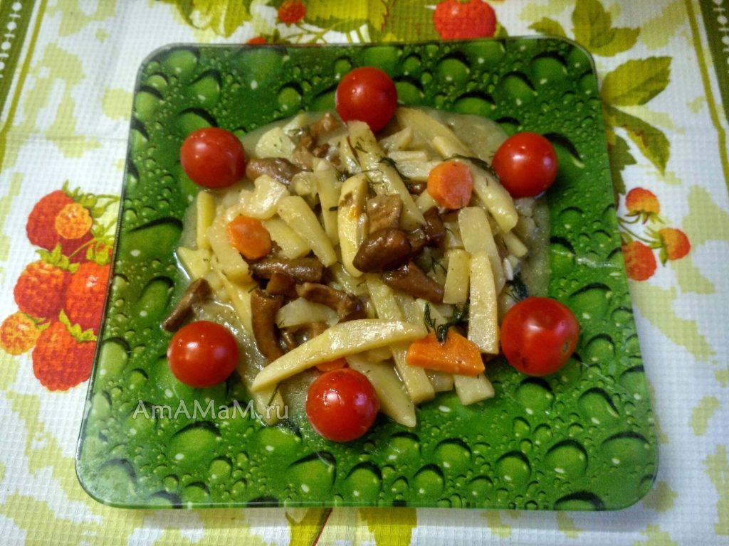Грибы с картошкой - рецепт