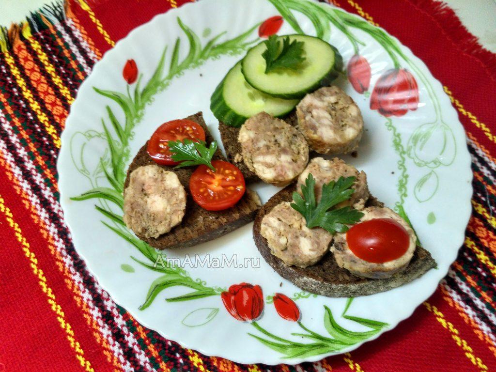 Рецепт домашней колбасы типа варено-копченой