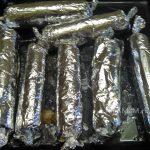 Домашние колбаски в фольге в духовке