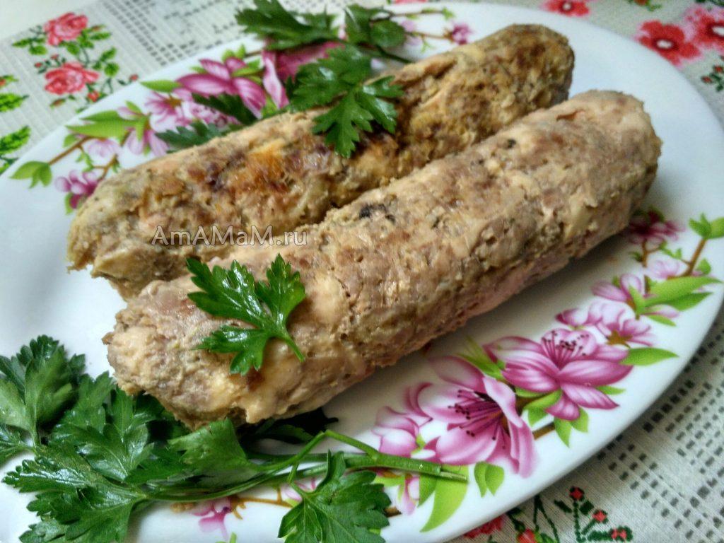Вкусные домашние колбаски