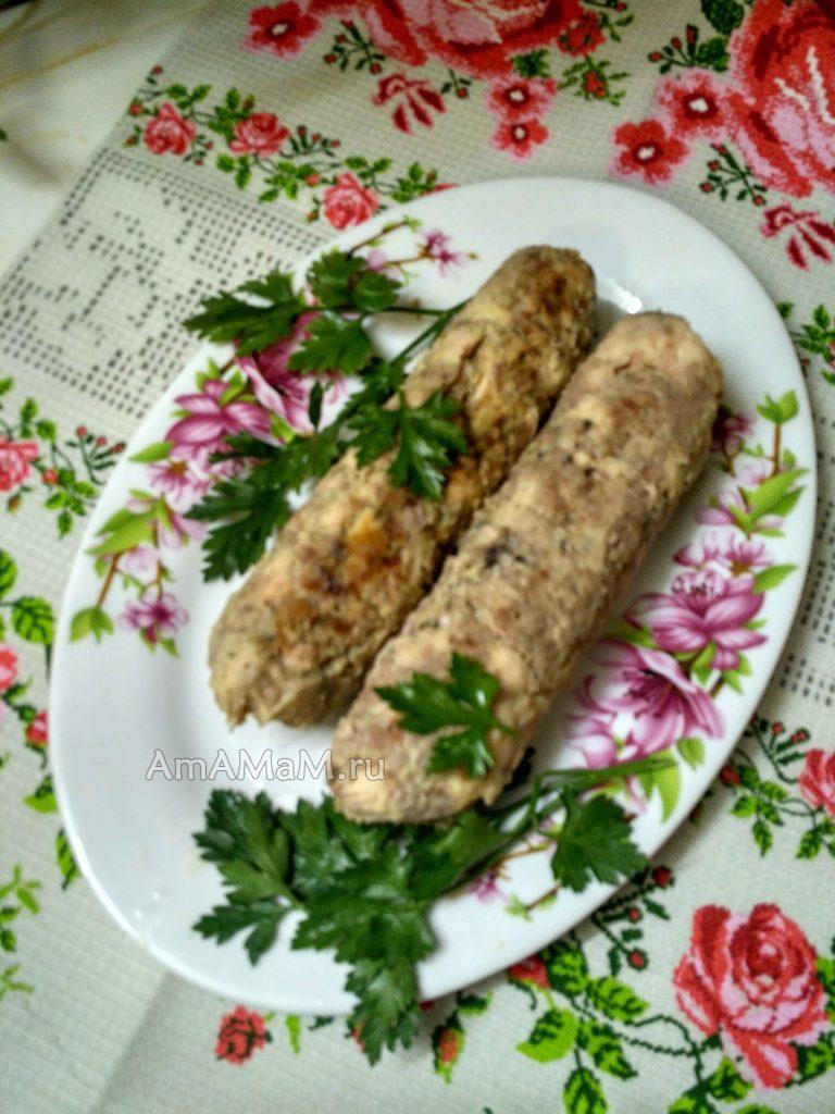 Домашняя колбаска - споосб приготовления и пошаговый рецепт