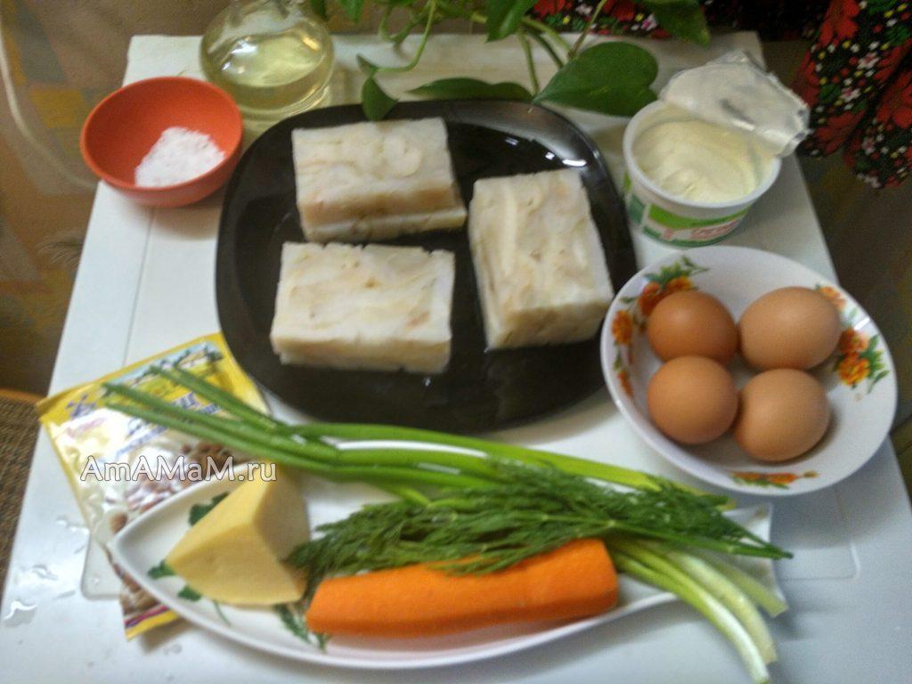 Запекание филе палтуса с морковью