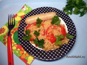 Рецепт ужина с пшеничной кашей