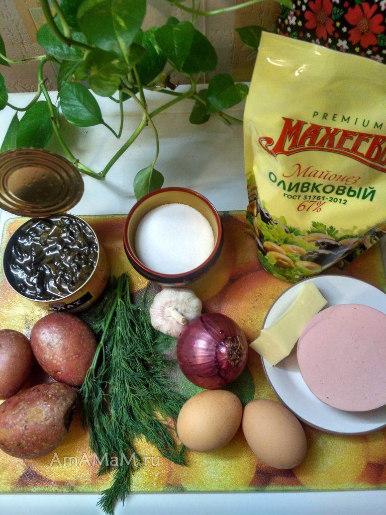 Салат из морской капусты - ингредиенты