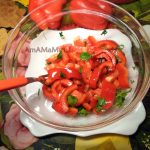 Салат из красного перца с зеленью