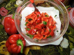 Рецепт салата из красного перца сладкого болшгарского