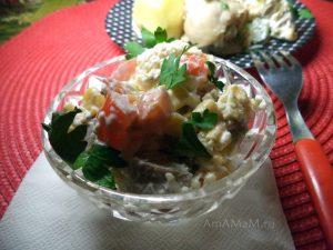 Свиной язык - рецепт салата