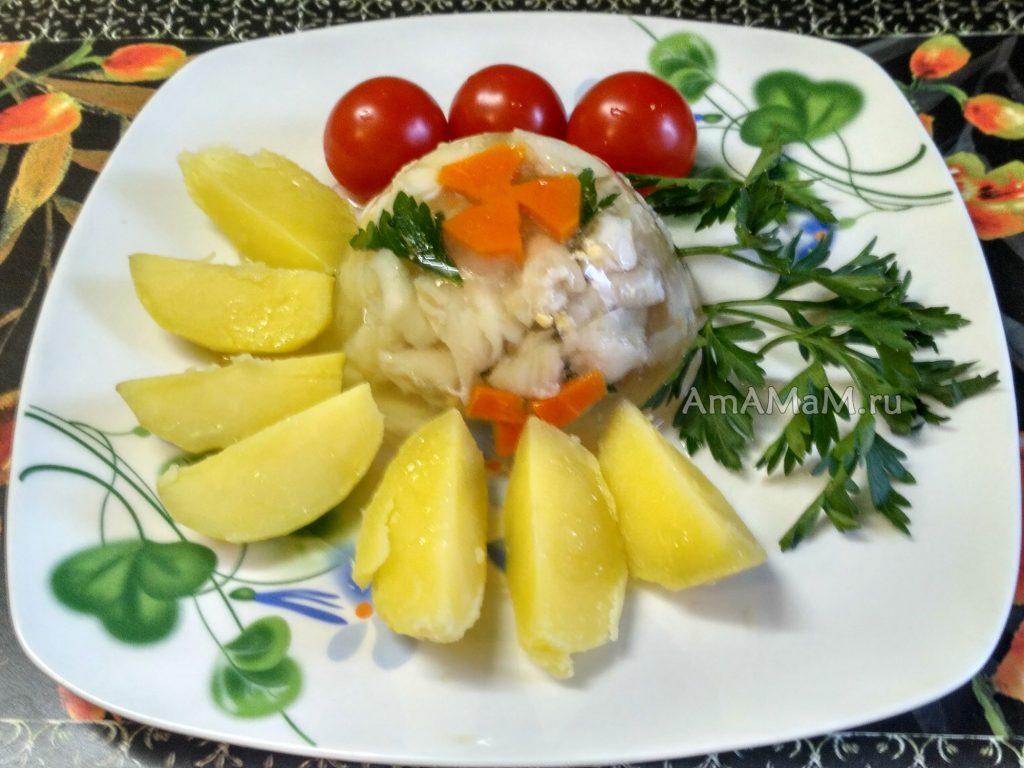 Вкусное рыбное заливное из палтуса