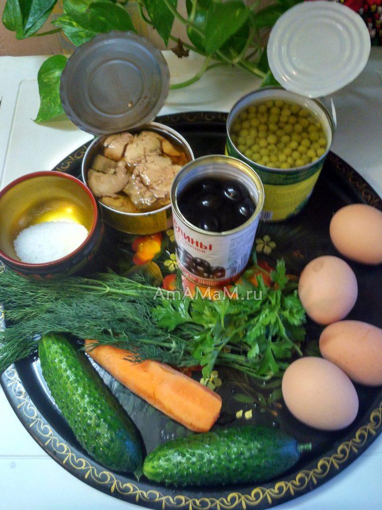 Состав салата из печени трески и рецепт приготовления