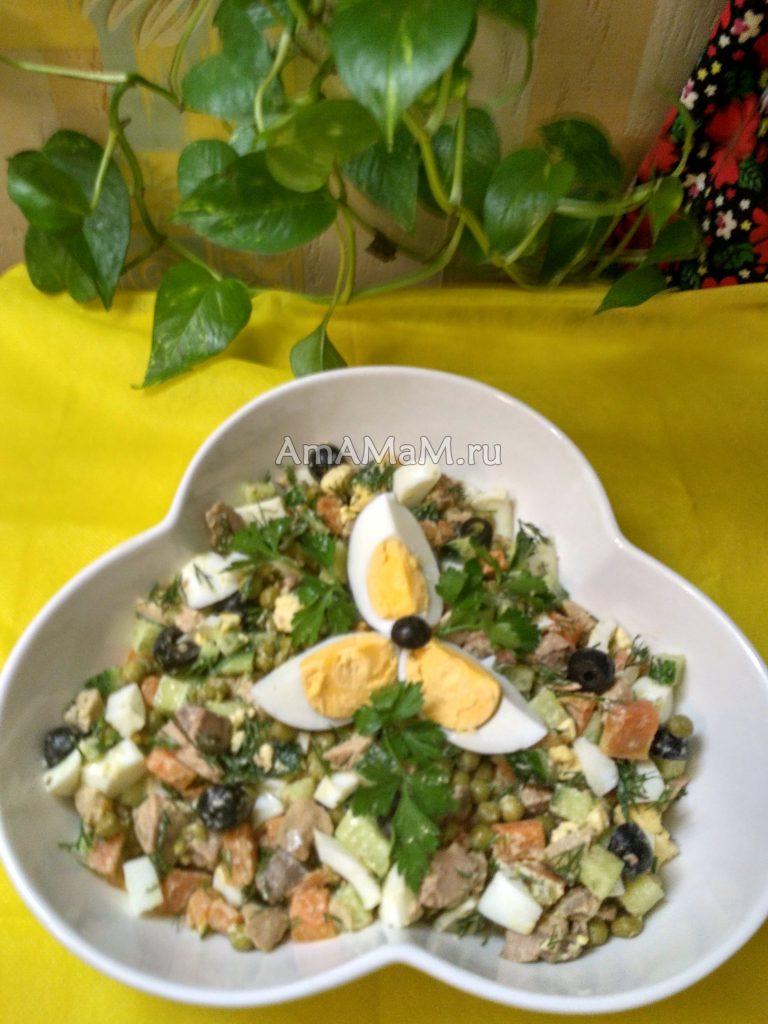 Салат из печени трески - рецепты