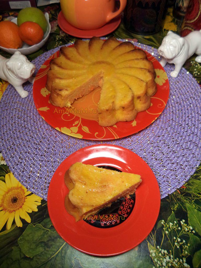 Морковный пирог с апельсином и медом