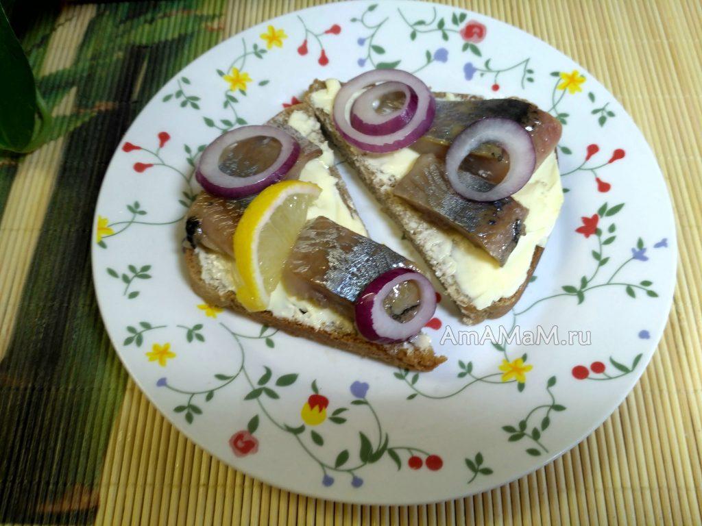 Самодельная селедка на бутербродах