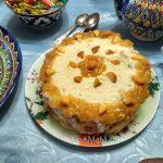 Торт с ананасами (апельсиновый бисквит, нежный крем из масла с манной кашей)