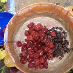 Вишневый пирог - рецепт с изюмом