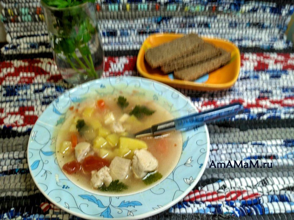 Простой рецепт супа с консервированной фасолью и плавленым сырком
