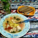 Фасолевый суп с плавленым сырком