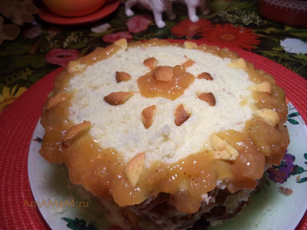 Рецепт апельсинового торта с ананасами