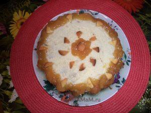 Торт бисквитный с масляным кремом и ананасами