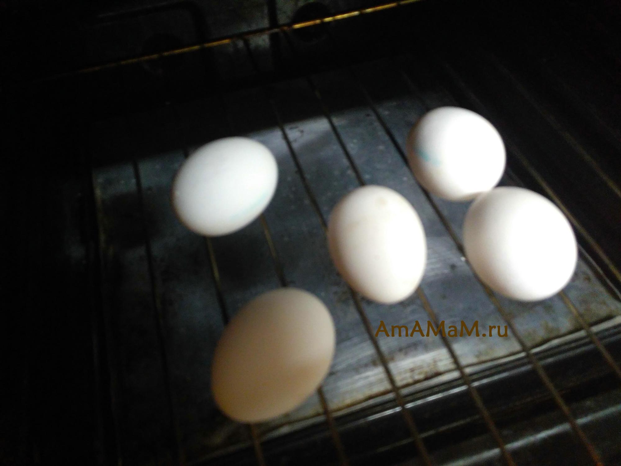 Запекание яиц в духовке на решетке