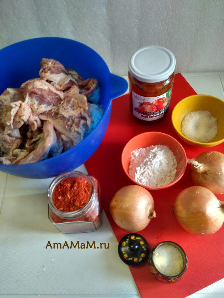 Ингредиенты рецептв