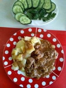 Рецепт приготовления диафрагмы - мясо с подливкой