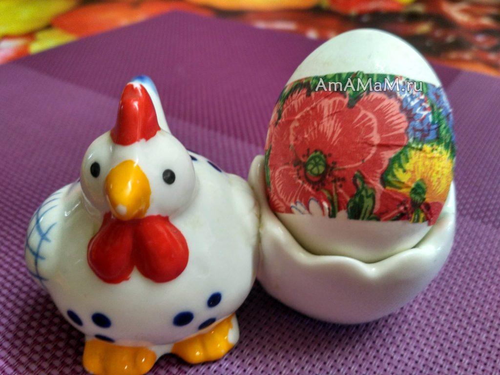 Как сделать декупаж яиц - фото
