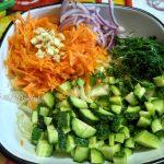 Приготовление салата из капусты