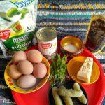 Салат яичный польский с сыром - ингредиенты