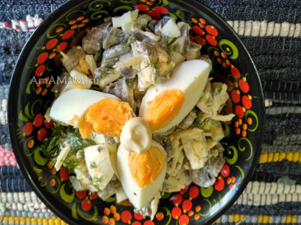 Приготовление польского яи чного салата - простой и вкусный рецепт