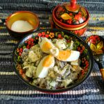 Яичный салат – 2 рецепта: с грибами и огурчиками, и с рисом