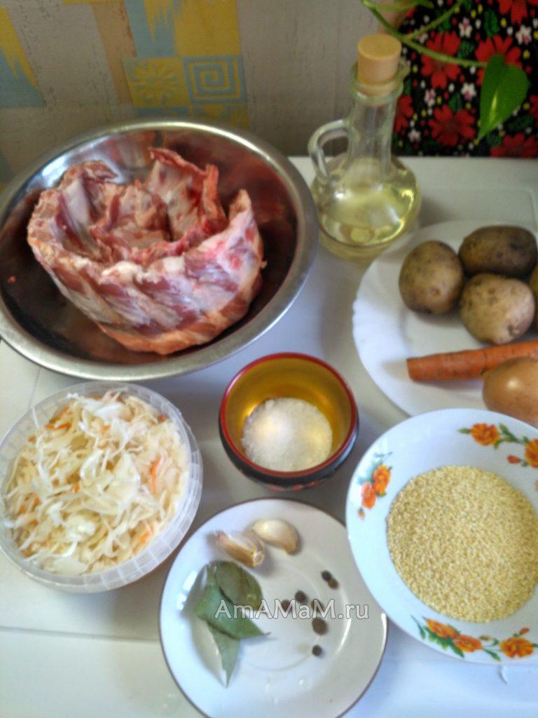 Что нужно для капустняка - ингредиены