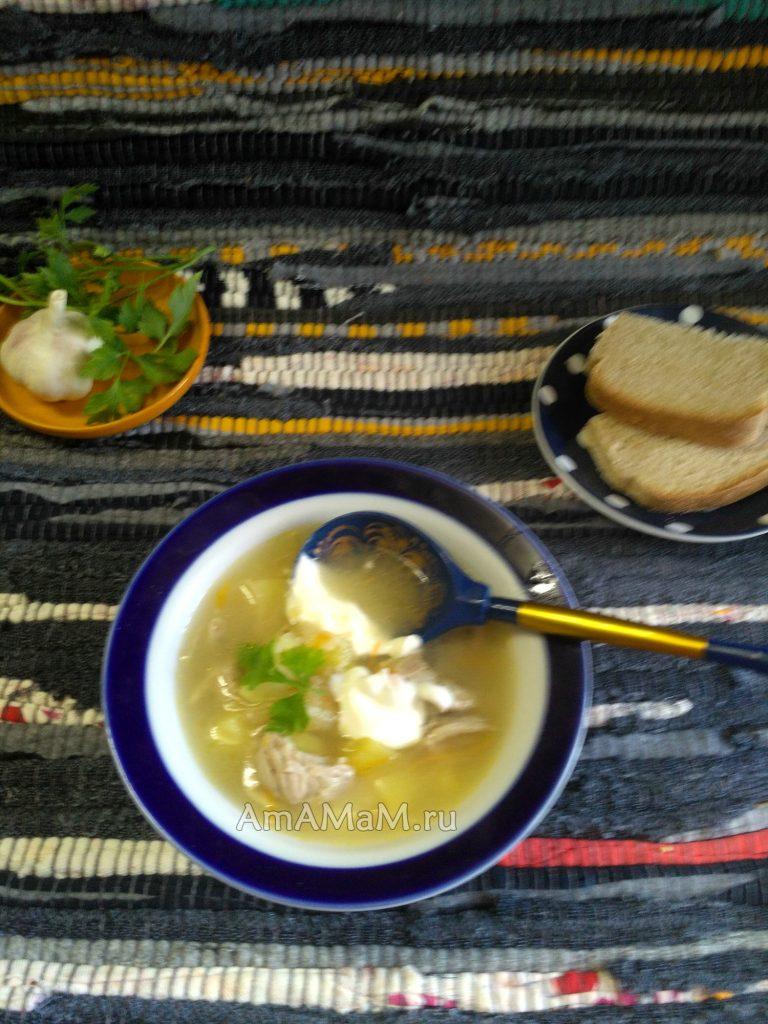 Капустнык - суп из кислой капусты с пшеном