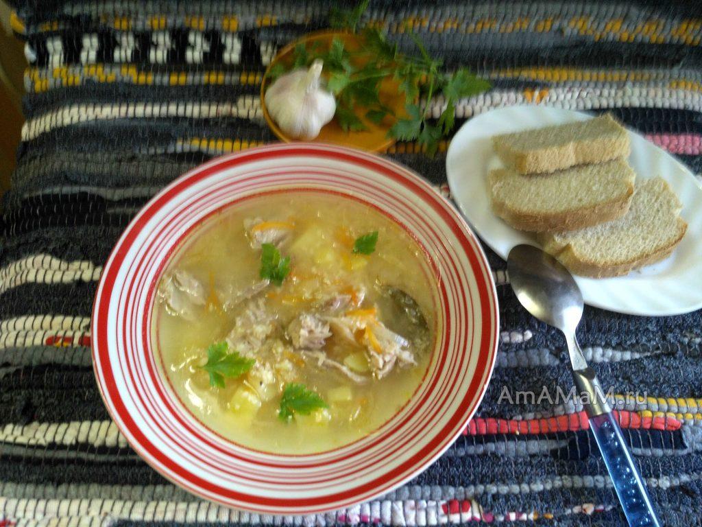 Тарелка супа Капустняка и рецепт приготовления