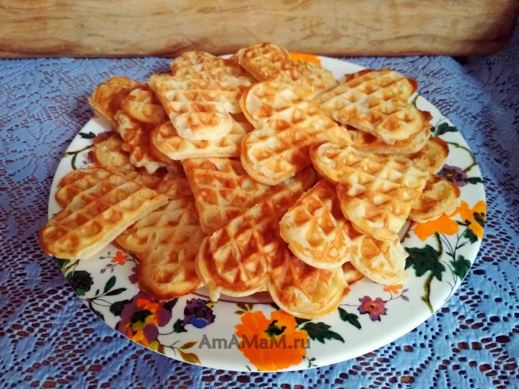 Венские вафли с плавленым сыром
