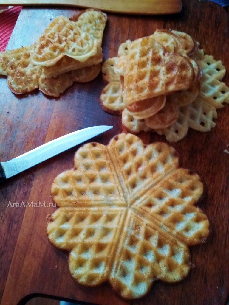 Как разрезать вафлю на части