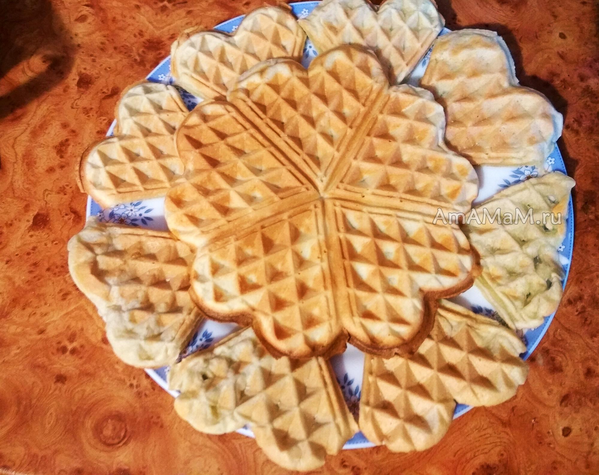 Мягкие венские вафли рецепт пошагово