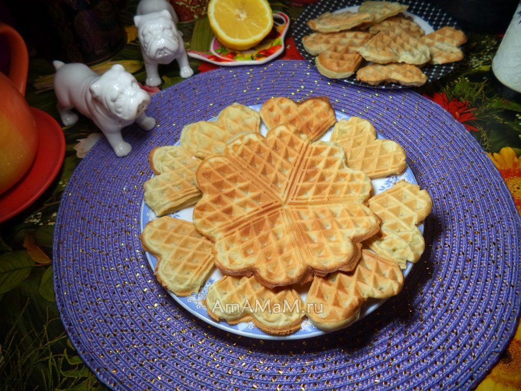 Домашние венские вафли - простой рецепт