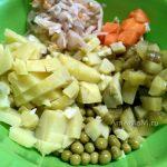 Приготовление простого и вкусного салата с горошком и капустой