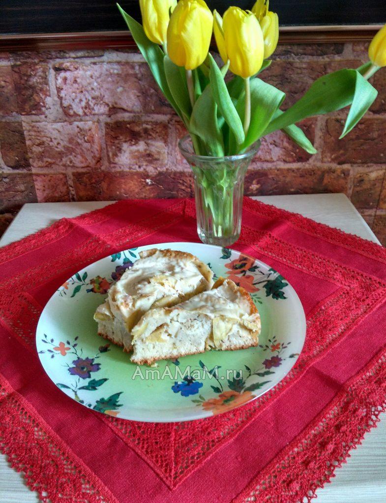 Пирог из яблок с Омичкой