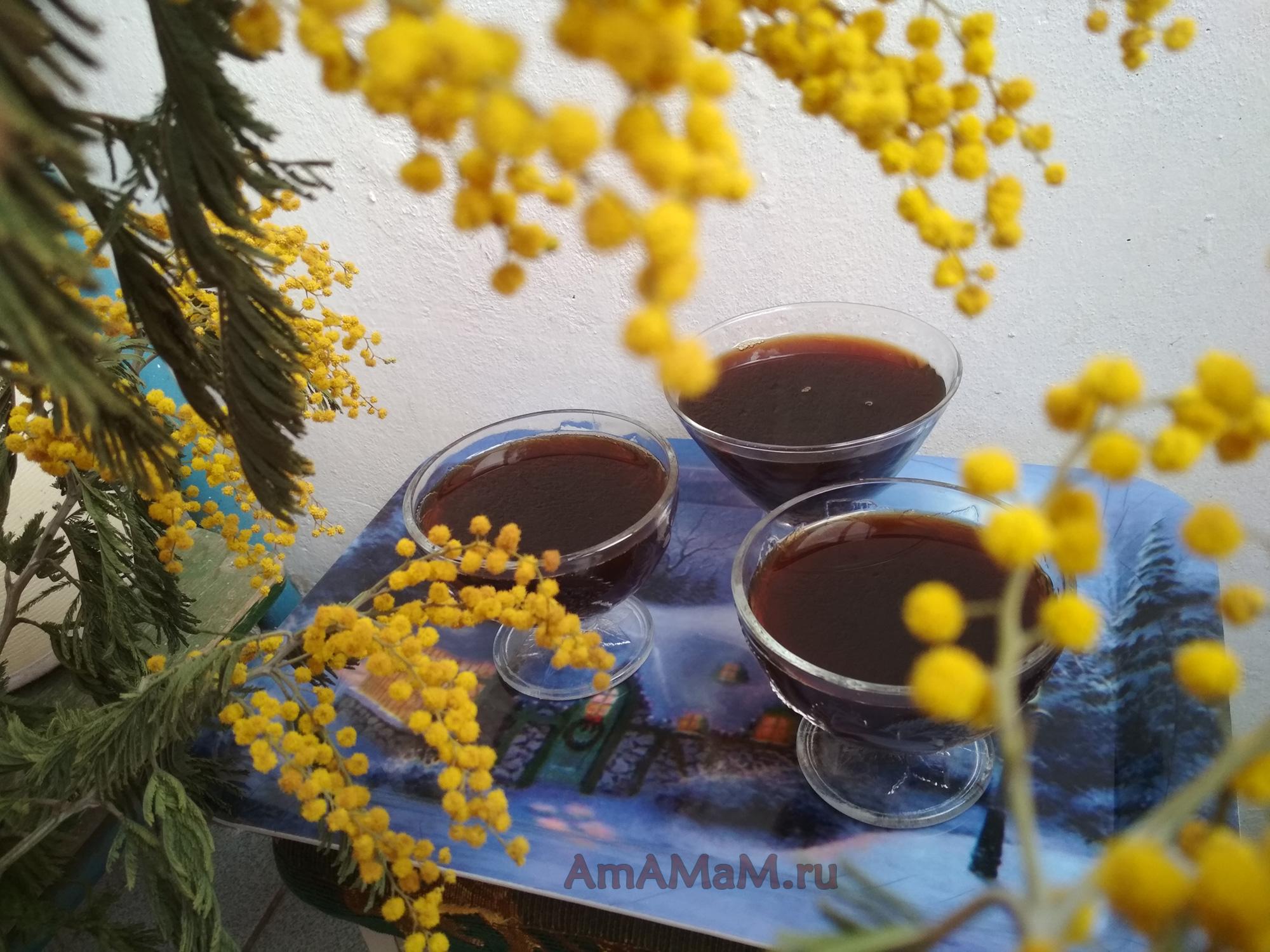 Желе из вишневого сиропа (от варенья)