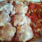 Запекание курицы с овощами и макаронами