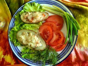 Картофель в духовке с сулугуни