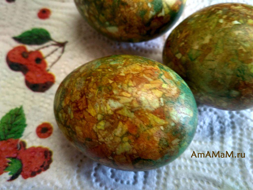 Мраморные яйца - украшение к Пасхе
