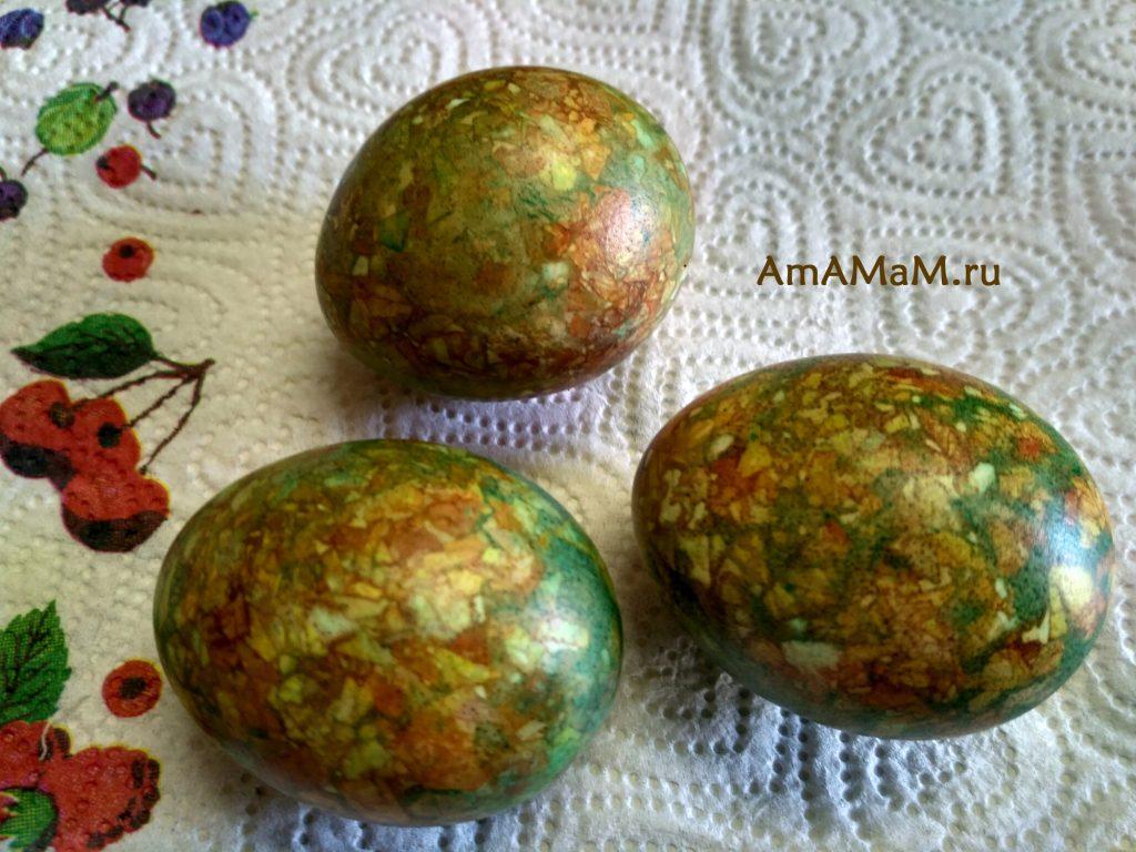 Яйца мраморного цвета