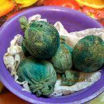 Яйца мраморные - фото после варки