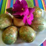 Рецепт мраморных яиц к Пасхе