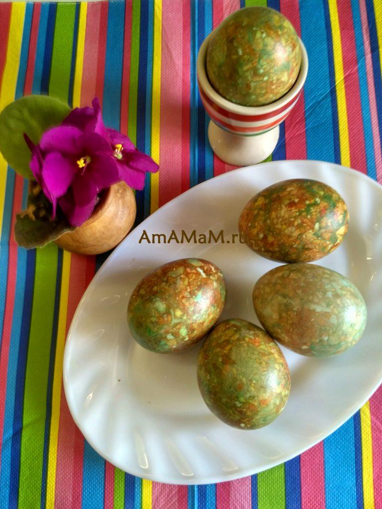 Мраморные яйца - фото